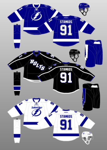 Tampa Bay Lightning 2014-17 Jerseys