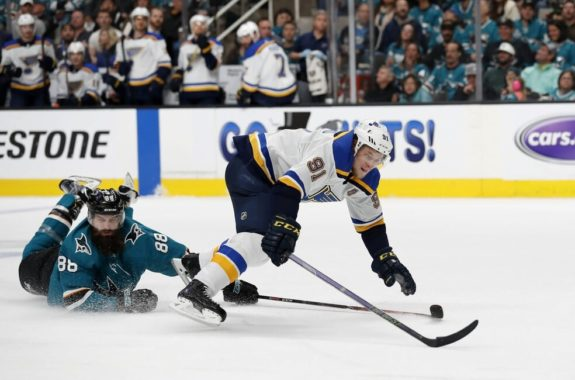 San Jose Sharks Brent Burns St. Louis Blues Vladimir Tarasenko