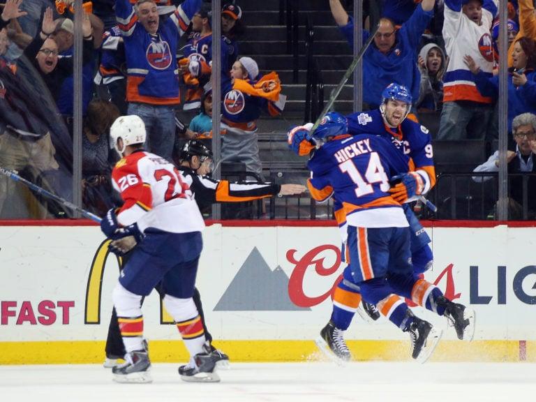 John Tavares Thomas Hickey New York Islanders