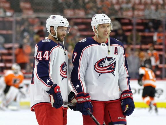 Taylor Chorney Jack Johnson Blue Jackets