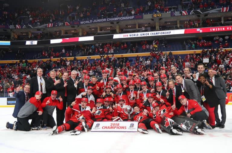 Team Canada 2018 WJC Gold