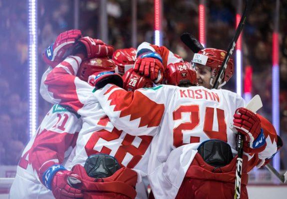 Team Russia celebrates