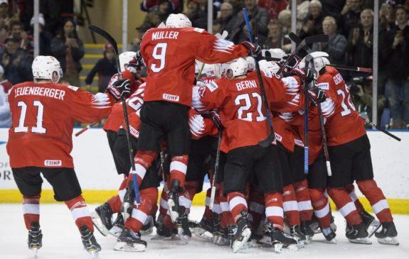 Team Switzerland celebrates