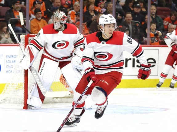 Teuvo Teravainen, Carolina Hurricanes, Mar. 1, 2018 (Amy Irvin / The Hockey Writers)