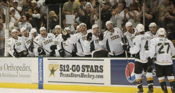 Texas Stars Bench