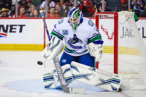 J.T. Miller, Thatcher Demko Lead Canucks to Ninth Straight Home Win, Beat Blues