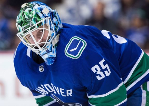 Vancouver Canucks' goalie Thatcher Demko