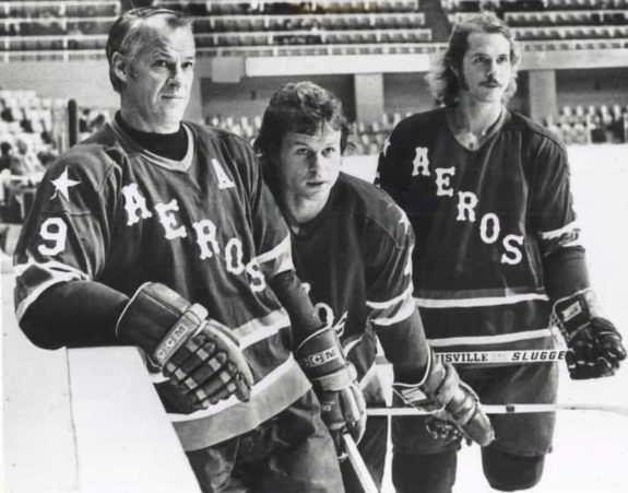 Gordie, Mark, and Marty Howe of the Houston Aeros