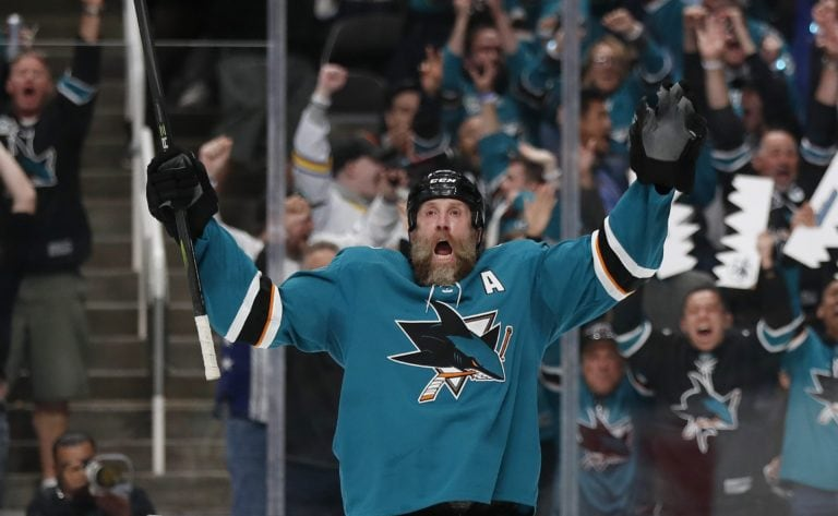 San Jose Sharks' Joe Thornton