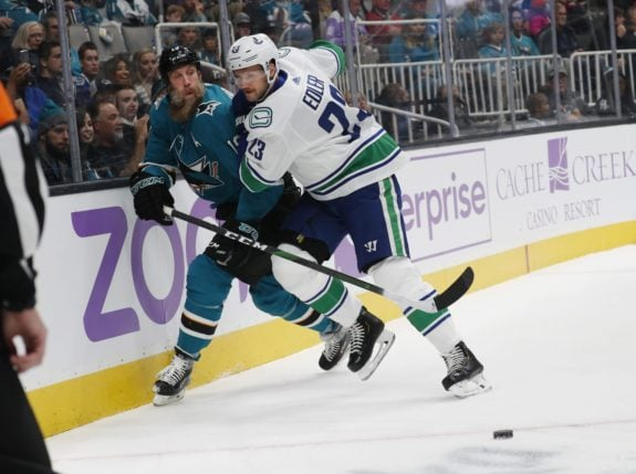 San Jose Sharks Joe Thornton Vancouver Canucks Alexander Edler