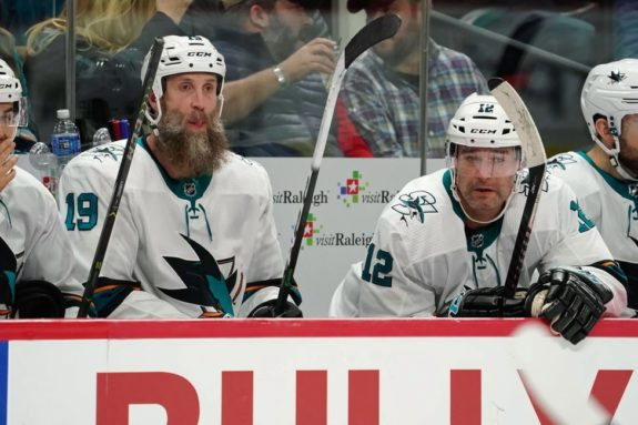 San Jose Sharks Joe Thornton Patrick Marleau