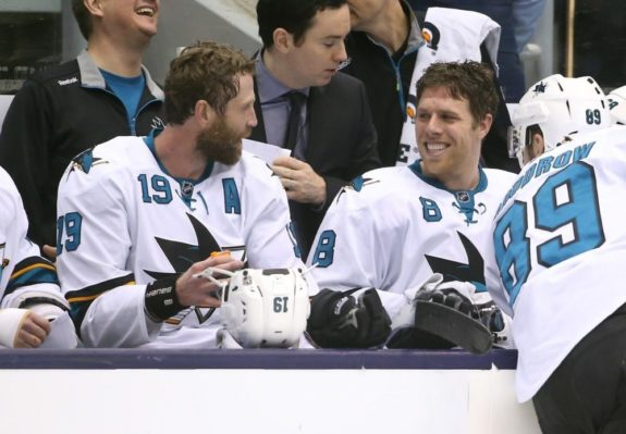 Joe Pavelski, Joe Thornton, San Jose Sharks