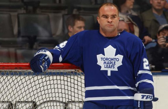 Tie Domi #28 of Toronto Maple Leafs