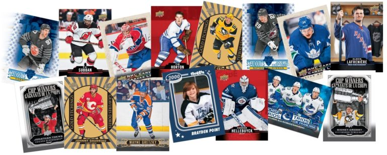 2020-21 Upper Deck Tim Hortons hockey program collage