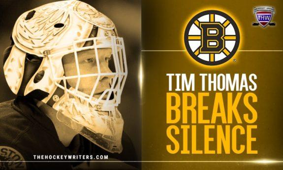 Boston Bruins Tim Thomas Breaks Silence About Post-Hockey Life