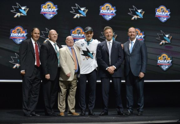 Timo Meier at the 2015 NHL Entry Draft.