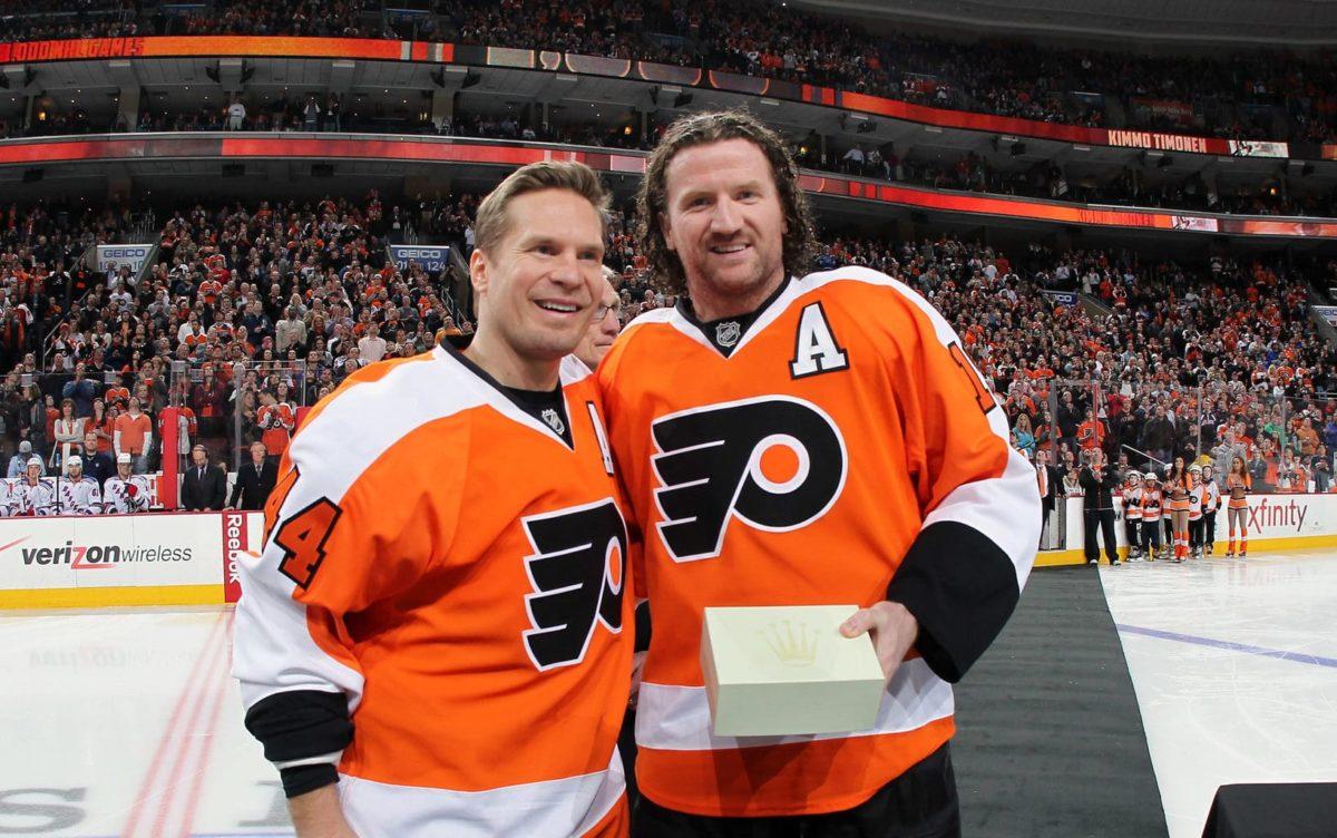Kimmo Timonen Scott Hartnell Philadelphia Flyers