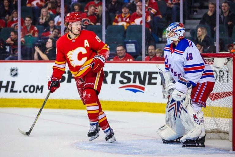 Calgary Flames Matthew Tkachuk New York Rangers Alexandar Georgiev
