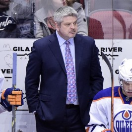 Oilers head coach Todd McLellan will see a lot of new faces at Oilers training camp. (Matt Kartozian-USA TODAY Sports)