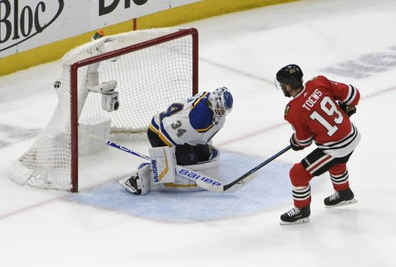 Chicago Blackhawks Jonathan Toews St. Louis Blues Jake Allen
