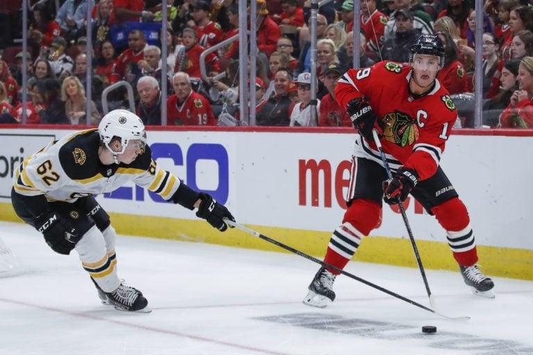 Boston Bruins Oskar Steen Chicago Blackhawks Jonathan Toews