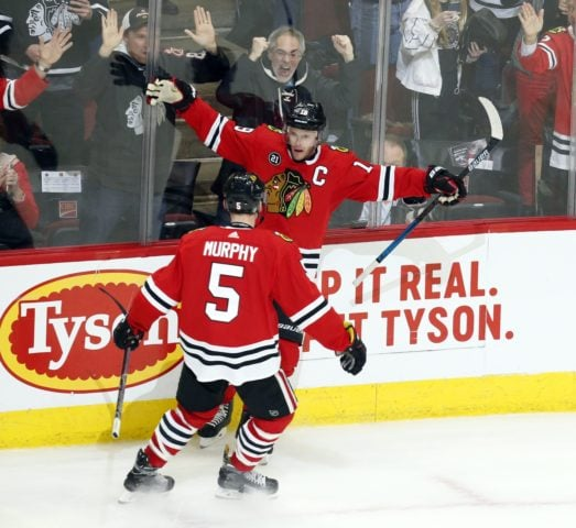 Chicago Blackhawks Jonathan Toews Connor Murphy