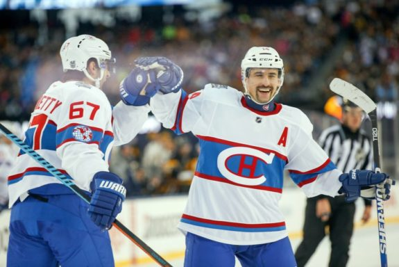 Montreal Canadiens forward Max Pacioretty and Tomas Plekanec -