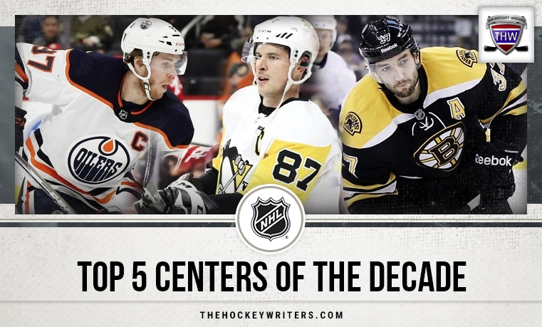 Top 5 Centers of the Decade Sidney Crosby, Connor McDavid, and Patrice Bergeron