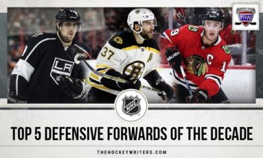 NHL's Top 5 Defensive Forwards of the Decade