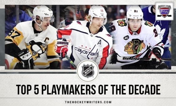 Top 5 Playmakers of the Decade Nicklas Backstrom, Sidney Crosby, and Patrick Kane