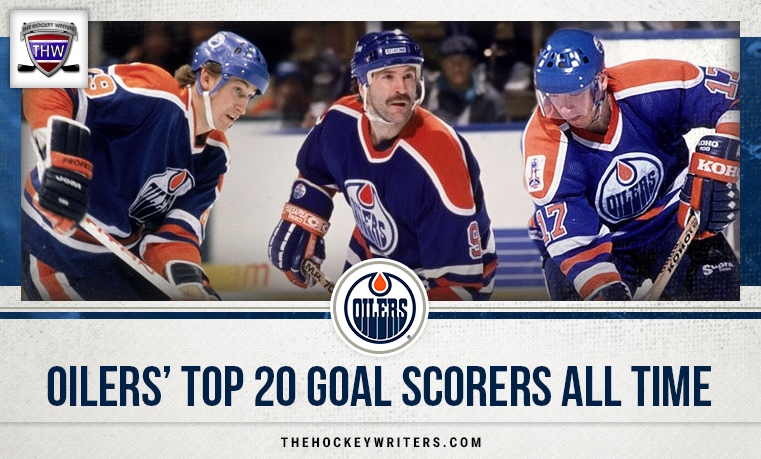 Edmonton Oilers' Top 20 Goal Scorers All-Time featuring Wayne Gretzky, Jari Kurri and Glenn Anderson