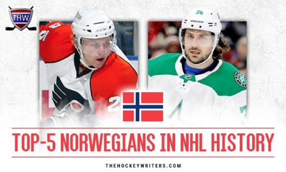 Top 5 Norwegians in the NHL Noeway Mats Zuccarello Patrick Thoresen