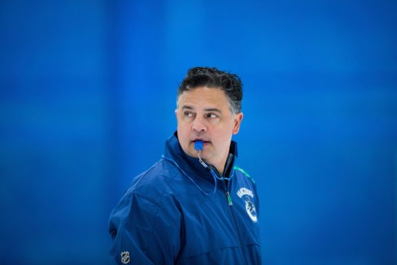 Vancouver Canucks coach Travis Green