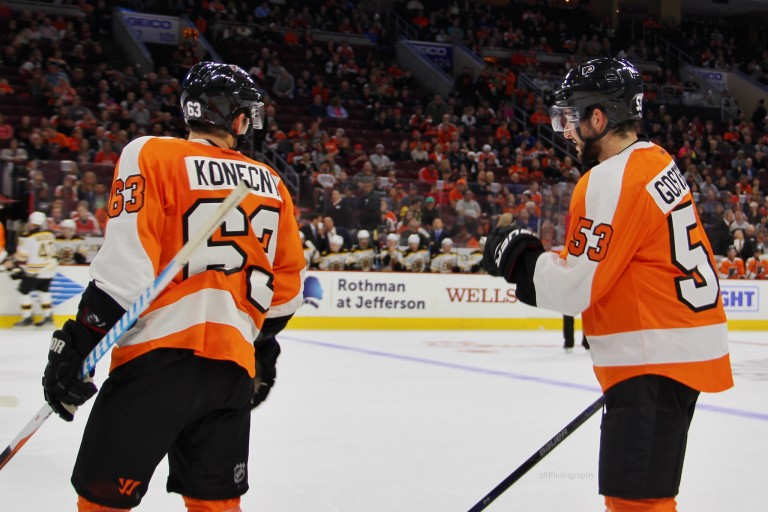 Shayne Ghostisbehere Travis Konecny Philadelphia Flyers