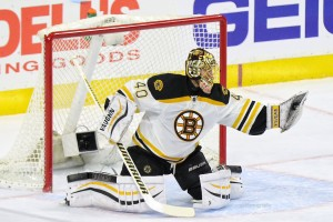 Rask is still one of the better goalies in the Eastern Conference. (Amy Irvin / The Hockey Writers)
