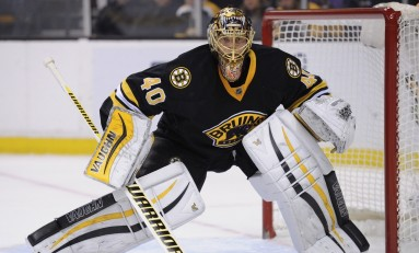 Boston Bruins' Rask at Practice After 3-day Leave
