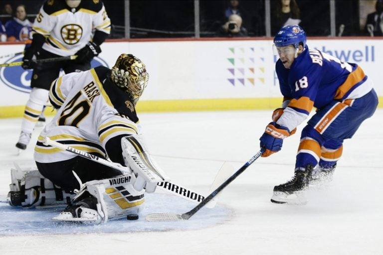Boston Bruins Tuukka Rask New York Islanders Anthony Beauvillier