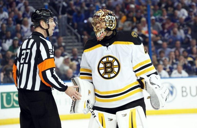 Tuukka Rask Bruins Referee