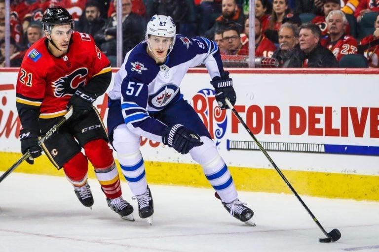 Winnipeg Jets Tyler Myers Calgary Flames Garnet Hathaway