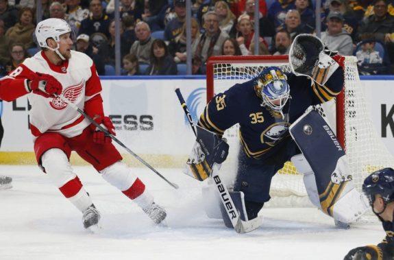 Buffalo Sabres Linus Ullmark Detroit Red Wings Justin Abdelkader