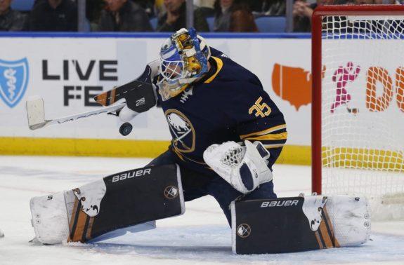 Buffalo Sabres goalie Linus Ullmark