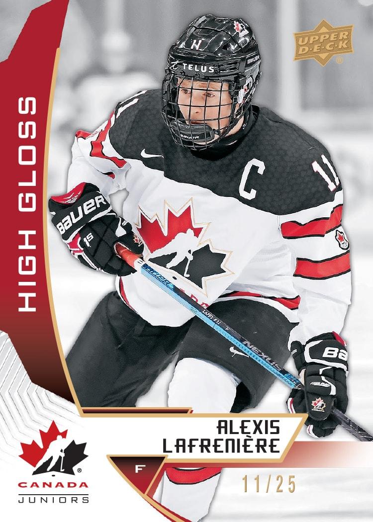 Upper Deck 2019 Canada Juniors Alexis Lafreniere