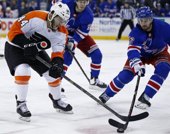 Philadelphia Flyers Phil Varone New York Rangers Brendan Smith