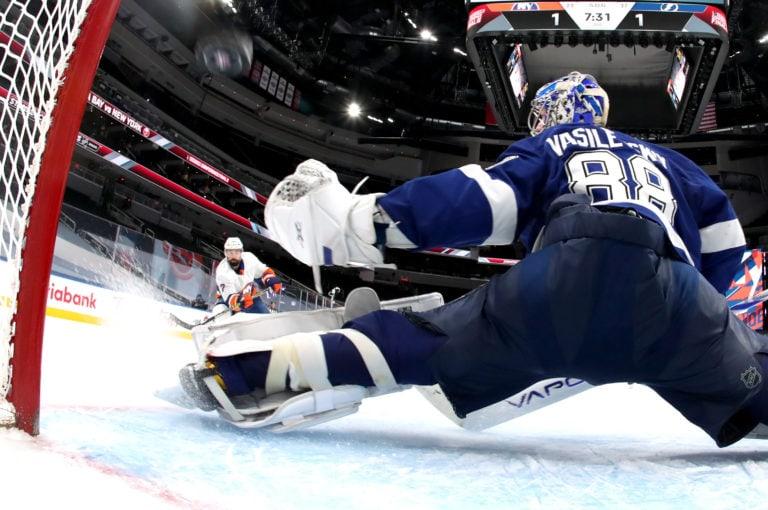 Andrei Vasilevskiy Tampa Bay Lightning Jordan Eberle New York Islanders