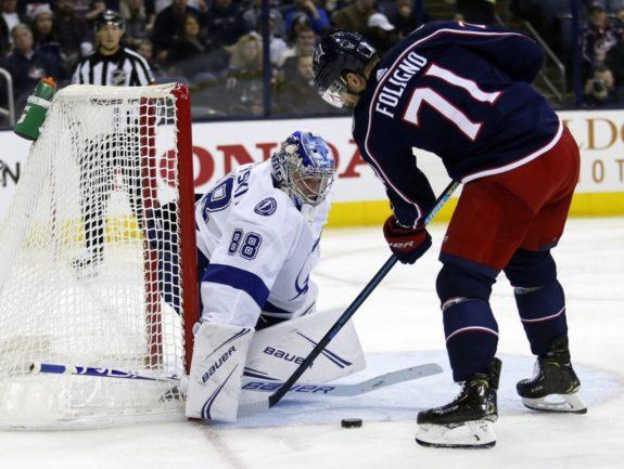 Tampa Bay Lightning Andrei Vasilevskiy Columbus Blue Jackets Nick Foligno