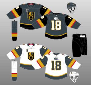 Vegas Golden Knights 2017-Present Jerseys