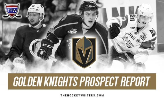 Vegas Golden Knights Prospect Report Peyton Krebs Pavel Dorofeyev and Lucas Elvenes