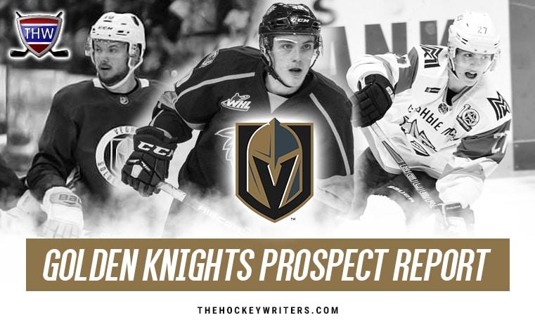 Vegas Golden Knights Prospect Report Peyton Krebs Pavel Dorofeyev and Lucas Elvenes