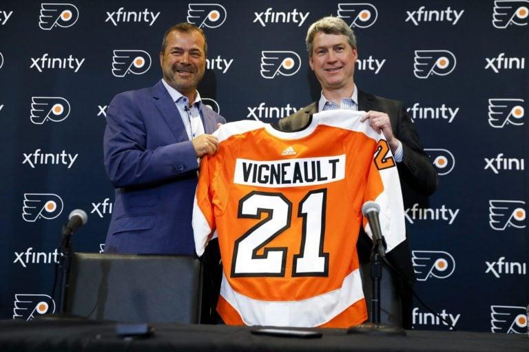 Alain Vigneault Chuck Fletcher Philadelphi Flyers
