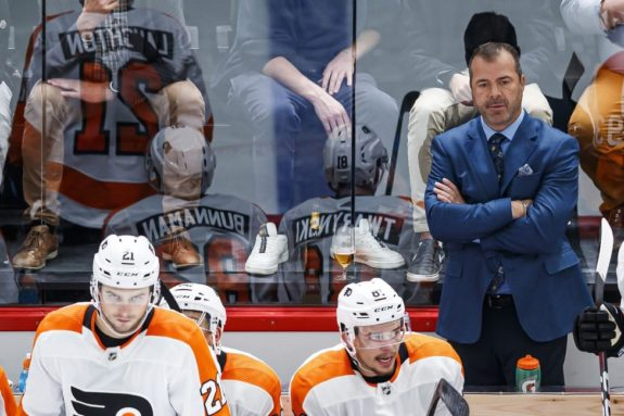 Philadelphia Flyers head coach Alain Vigneault